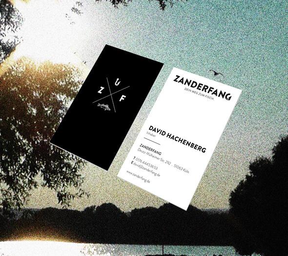 Zanderfang Visitenkarten Designagentur Köln