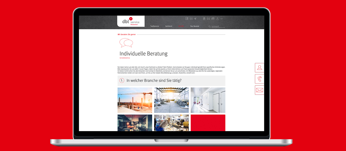 Online Portal Gestaltung