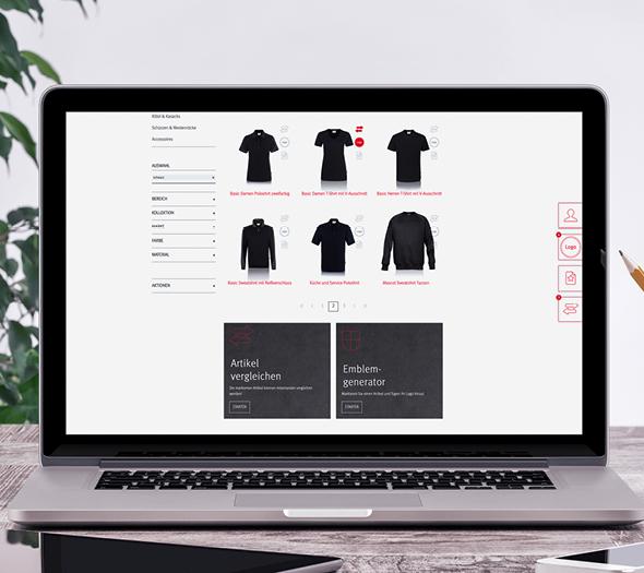 Online Shop Gestaltung Referenz