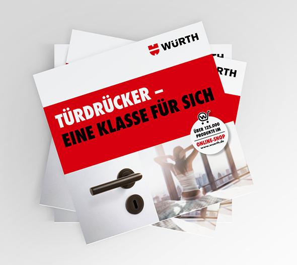 Broschürendesign für Kunden Würth