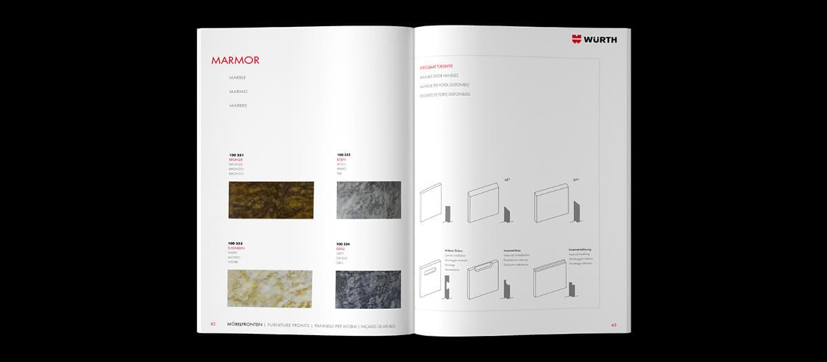 Katalogdesign für Würth by Hallmann Pienta Designagentur