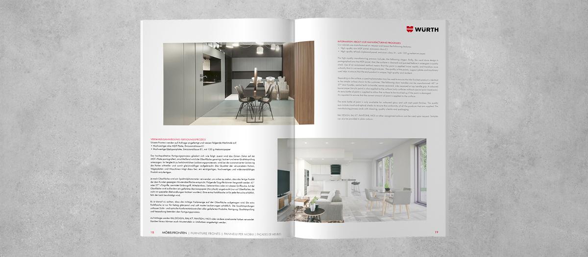 Katalogdesign für Kunden Würth